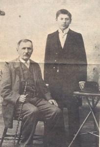 Milutin Uskoković sa ocem