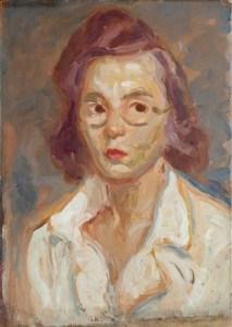 Zora Petrović, Autoportret, 1946, Spomen-zbirka Pavla Beljanskog, Novi Sad