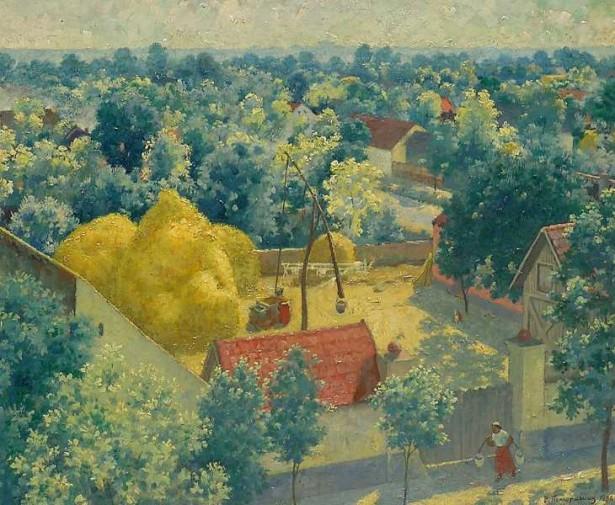 Vasa Pomorišac, Seljačko dvorište, Ečka 1956.g.