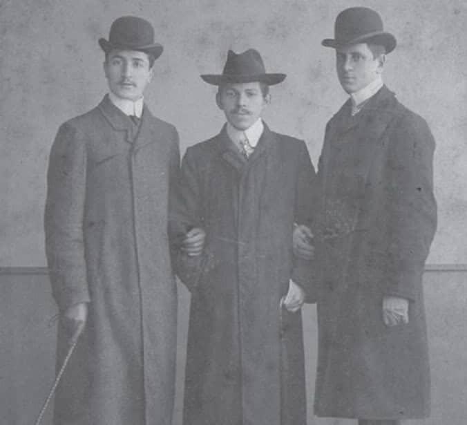 Veselin Čajkanović tokom studija u Lajpcigu (u sredini)
