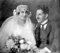 Ruža i Veselin Čajkanović, slika sa venčanja