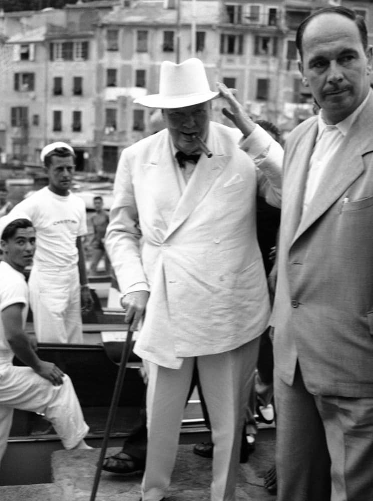 Vinston Čerčil u Portofinu, 1952.
