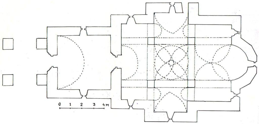 Ozren - osnova crkve Svetog Nikole