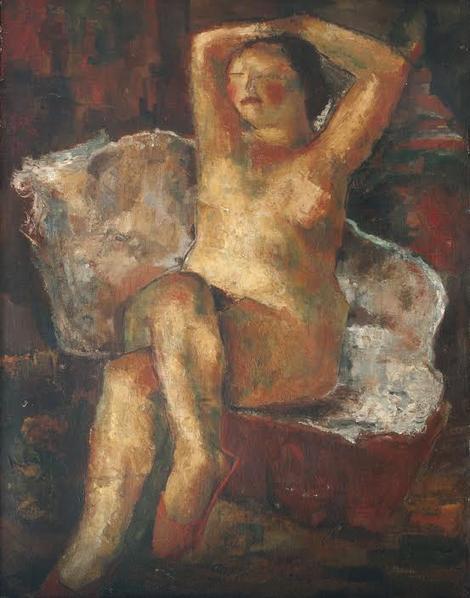 ženski akt, Lubarda, 1928
