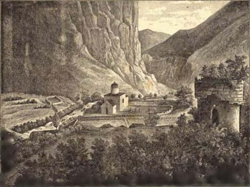 Manastir Rmanj, gravura iz Bosanske vile, 1889.