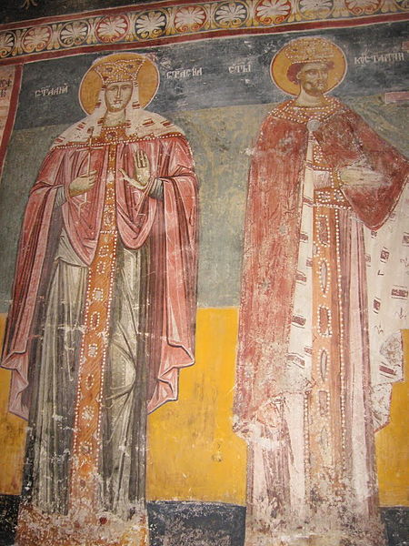 Freska iz manastira Lomnica (Lovnica), foto: Sonjabgd via Wikipedia, CC BY-SA 3.0