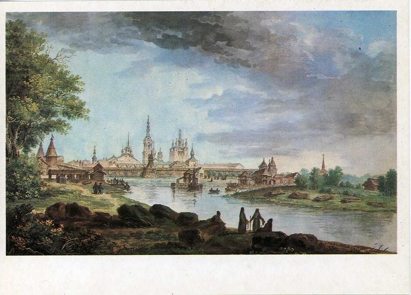 Solovki 1780, Solovecki manastir, autor Jean-Balthasar de la Traverse