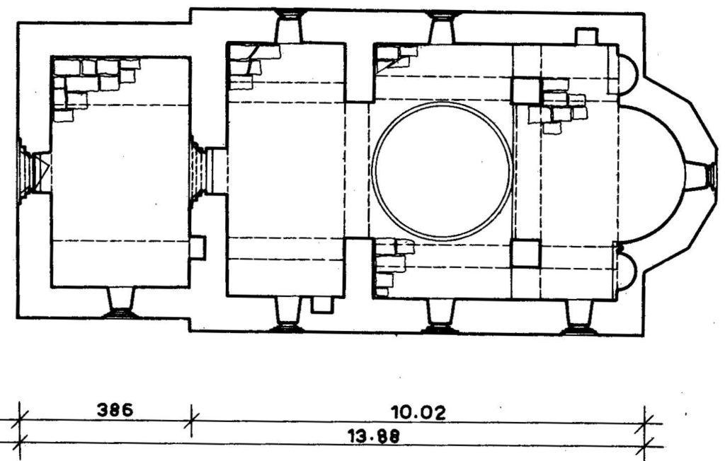 Osnova crkve Svetog Đorđa, Lomnica (Lovnica)