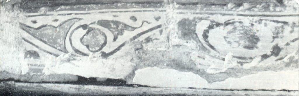 Ornamenti oko prozora kubeta, crkva Svete Trojice, Manastir Tavna