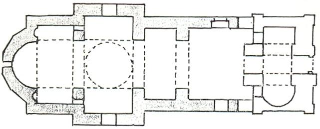 Osnova crkve Svete Trojice, Manastir Tavna