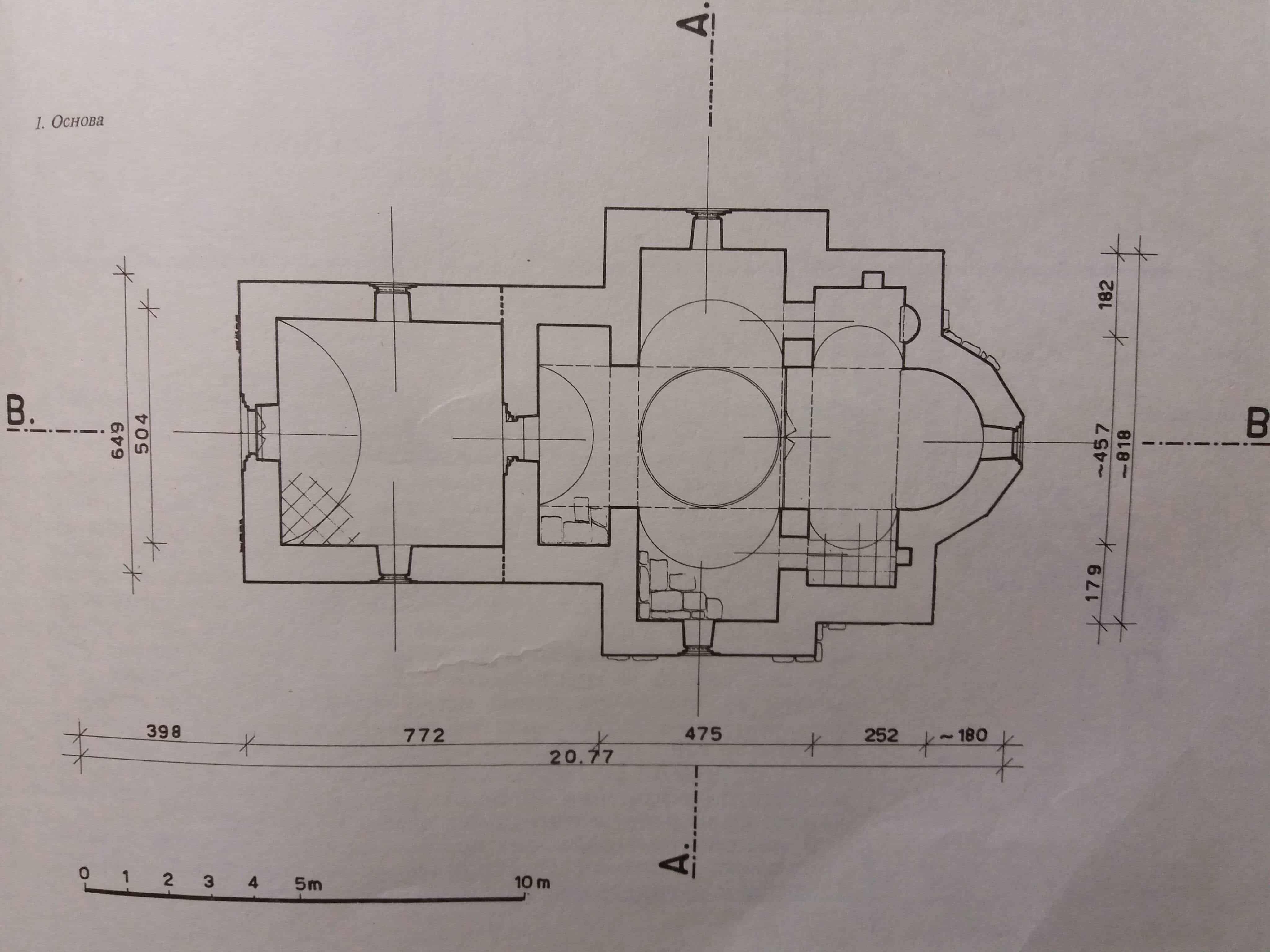 Osnova crkve Pokrova Bogorodice, Vozuća