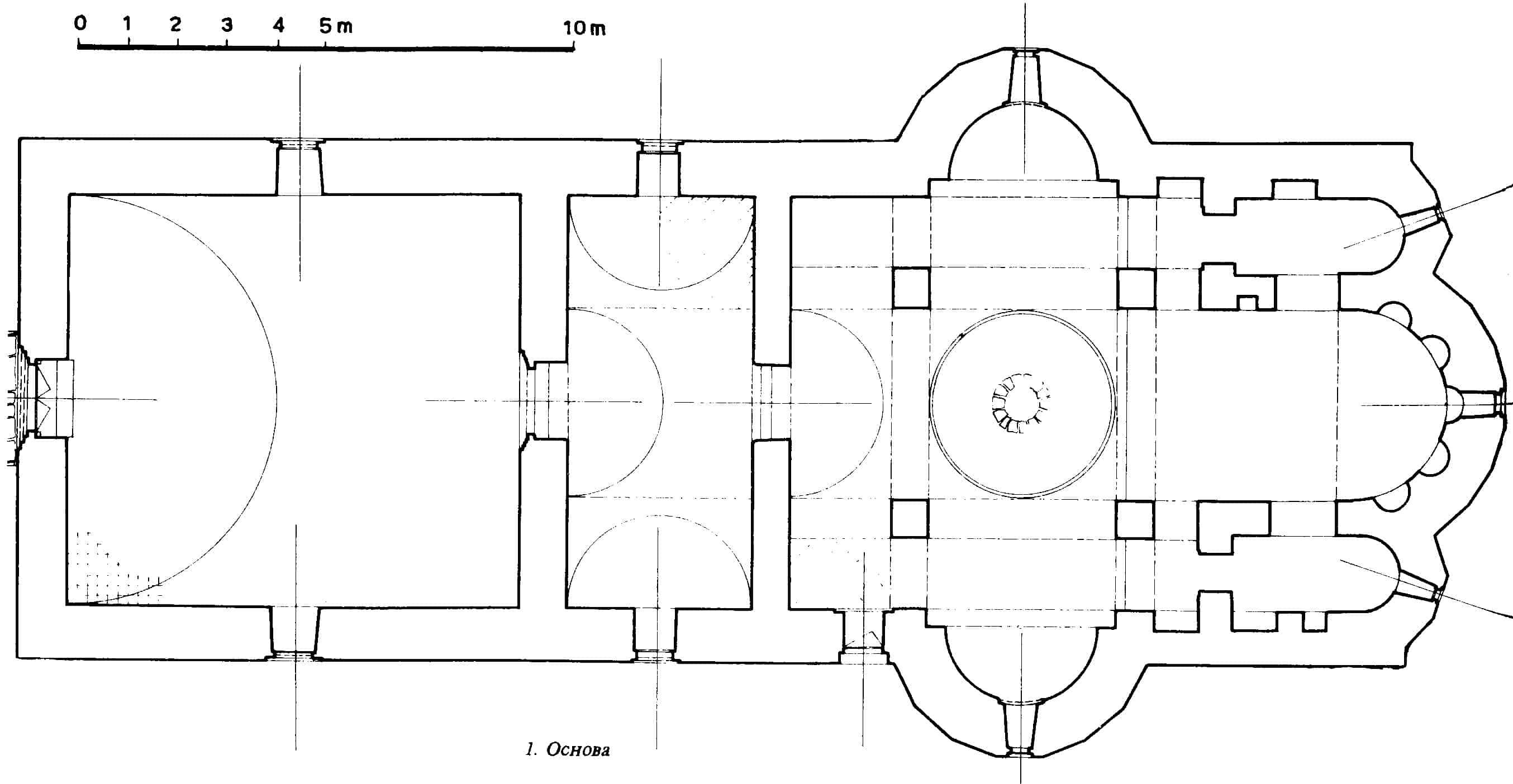 Osnova crkve Blagoveštenja, Papraća