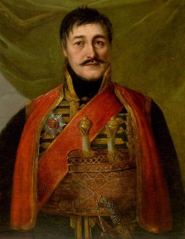 Portret Karađorđa Petrovića, Uroš Knežević 1852.