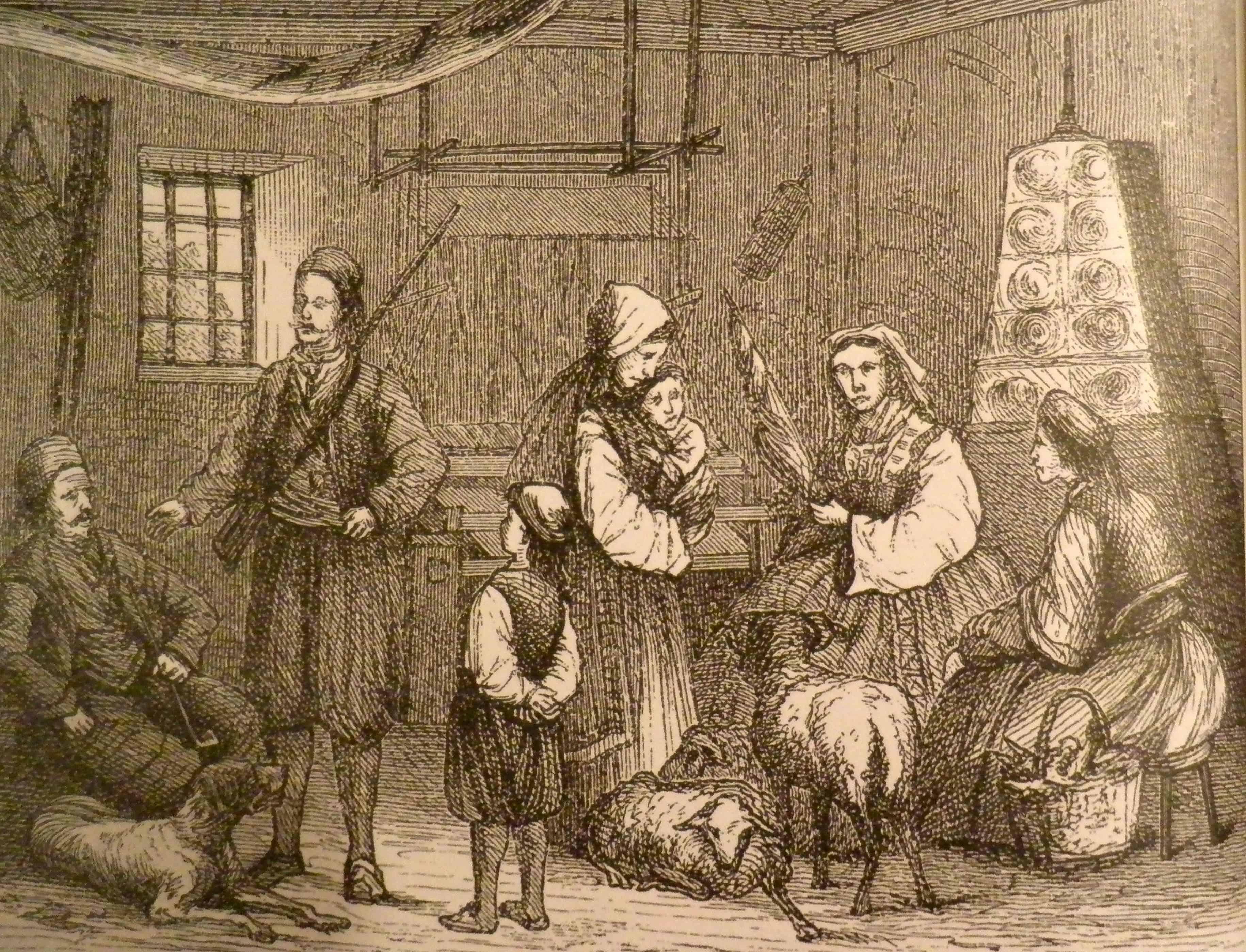 Srpsko seosko domaćinstvo u 19. veku