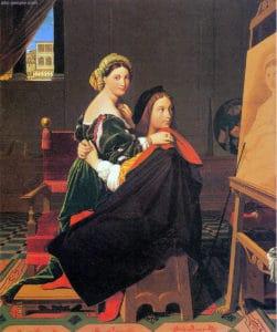 Jedna od Engrovih verzija predstave Rafaela i njegove Fornarine - Rafael i Fornarina, Fogg Museum, Harvard