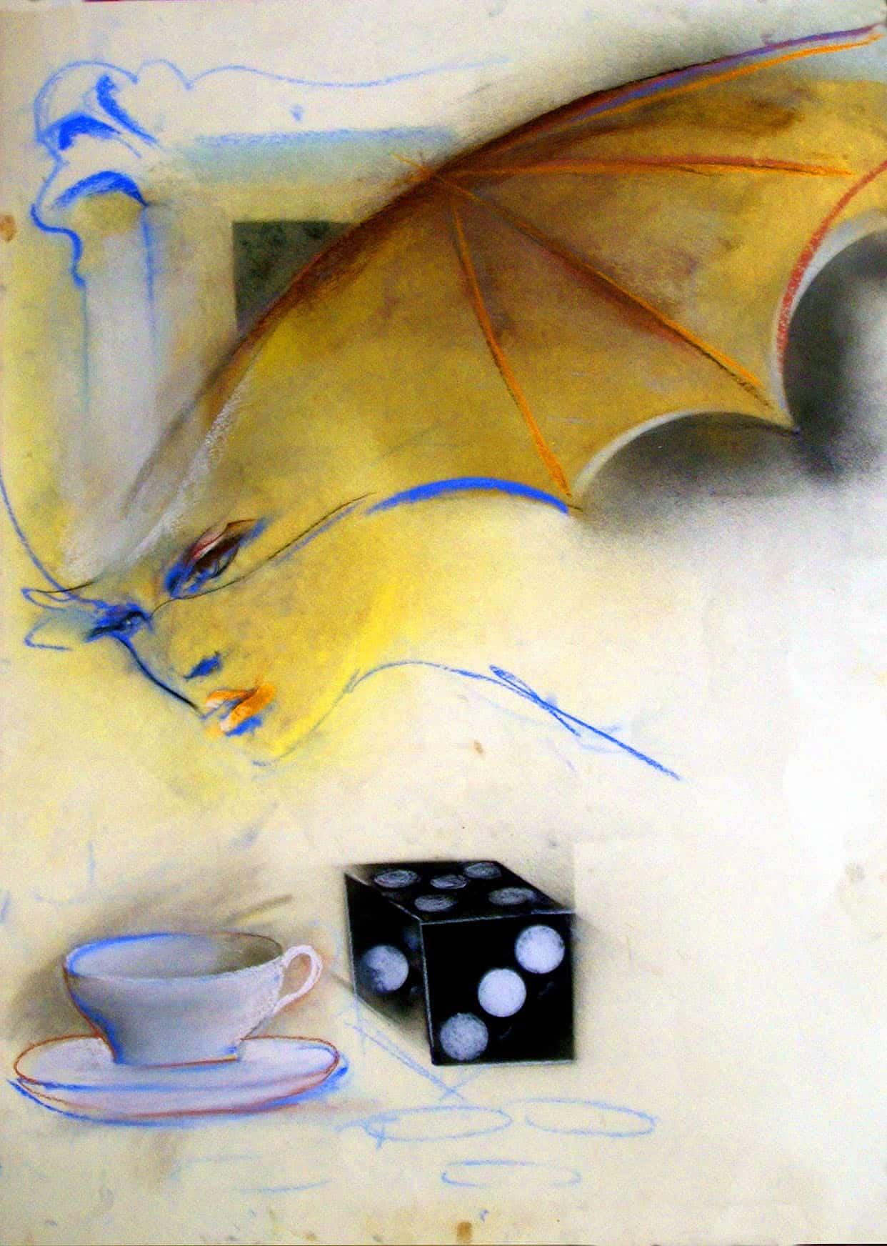 Olja Ivanjicki, Ctež za plakat za operetu Slepi miš, Narodno pozorište Beograd, 2005.