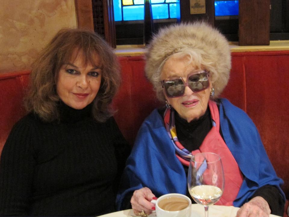 Bel Kaufman with her friend Isabel Madden
