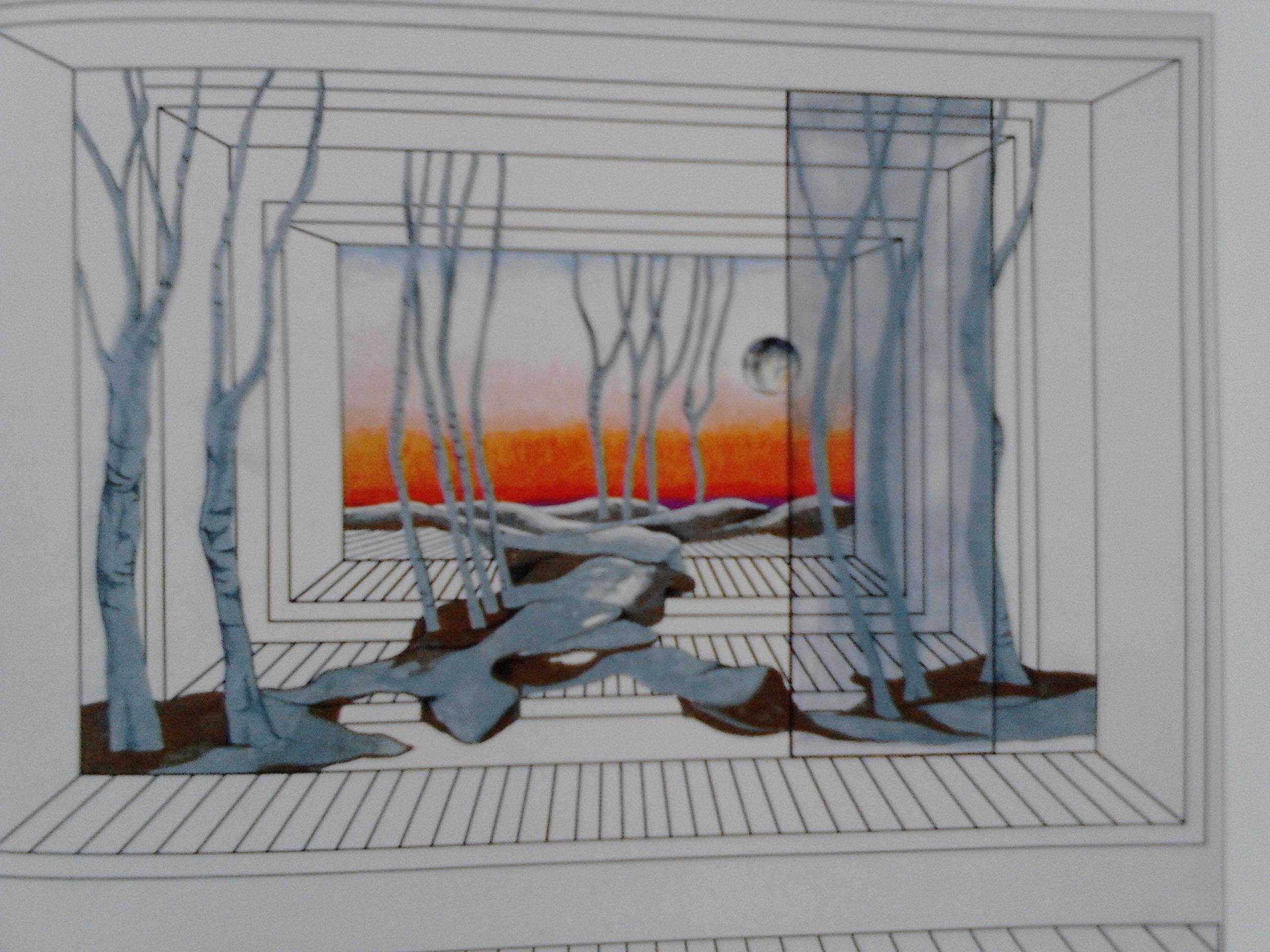 skica M. Gorki, Na letovanju, JDP