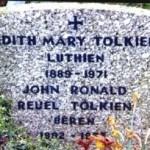 Tolkin i Edit - zajednički nadgrobni spomenik, sa natpisom