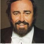 Lučano Pavaroti, potpis