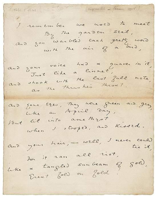 Oskar Vajld rukopis