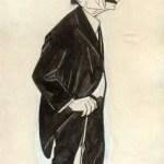 Branislav Nušić, karikatura Pjera Križanića