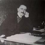 Branislav Nušić nad rukopisom