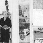 Pegi Gugenhajm u biblioteci, foto arhiva Guggenheim Venice