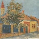 Živorad Nastasijević, Moja rodna kuća, 1956, ulje na platnu