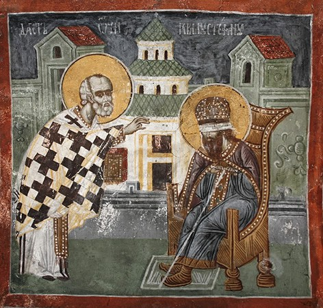 Sveti Nikola vraća vid kralju Stefanu Dečanskom, Pećka patrijaršija