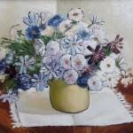 Sava Šumanovic, Cveće, 1938, slika, ulje, Galerija Šid