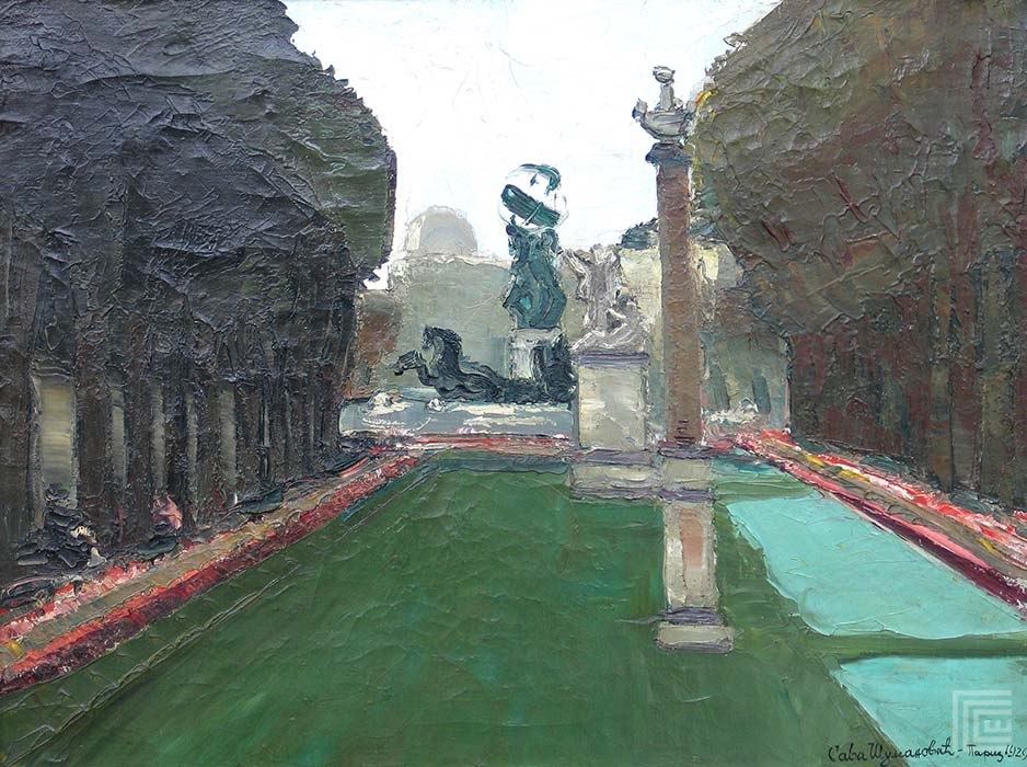 Sava Šumanovic, Pariz, Luksemburski park, slika
