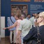 Sveti Sava srpski, poseta prilikom svečanog otvaranja izložbe