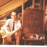 Svetozar Samurović u svom ateljeu na Kosančićevom vencu